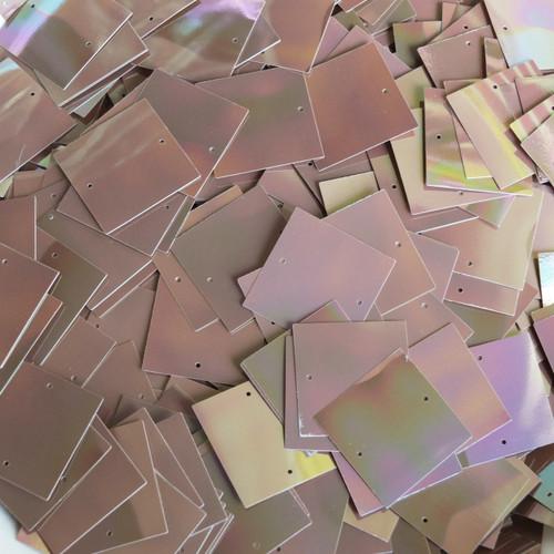 25mm Square Sequins Black Metallic Iris Rainbow Loose Paillettes