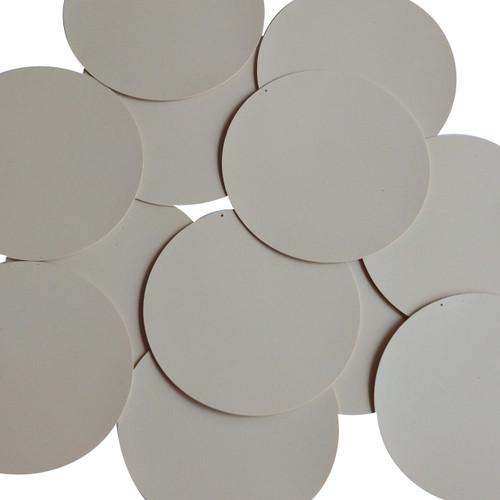 Round Sequin 60mm Beige Tan Opaque Vinyl