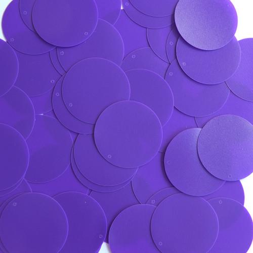 Round Sequin 30mm Purple Opaque Vinyl