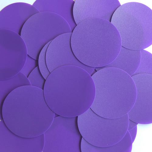 Round Sequin 40mm Purple Opaque Vinyl