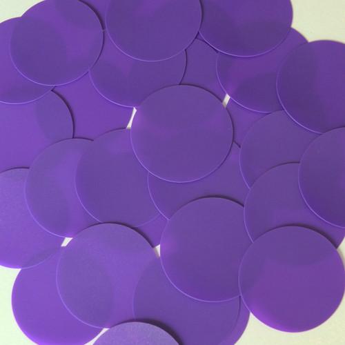 Round Sequin Paillettes 40mm No Hole Purple Opaque Vinyl