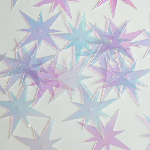 "North Star Sequin 1.5"" Crystal Crystallina Iris Mirror Iridescent"