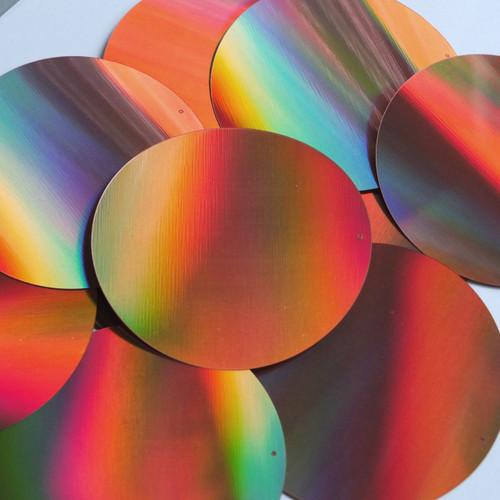 """Round Sequin 3"""" Copper Lazersheen Reflective Metallic"""