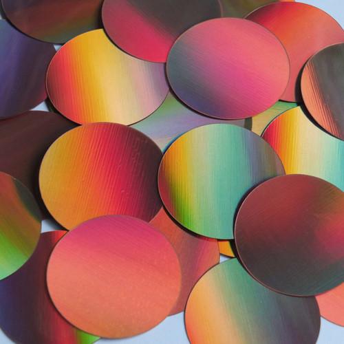 Round Sequin Paillettes 40mm No Hole Copper Lazersheen Reflective Metallic