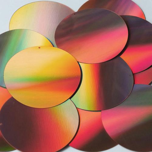 Round Sequin 70mm Copper Lazersheen Reflective Metallic