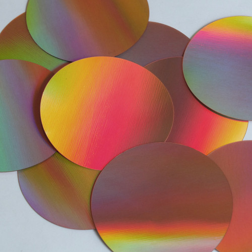 Round Sequin Paillettes 70mm No Hole Copper Lazersheen Reflective Metallic
