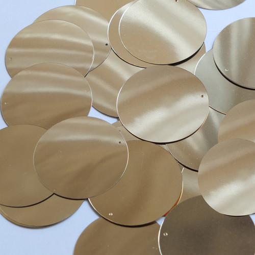 Round Sequin 40mm Light Gold Metallic