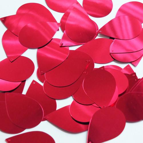"""Teardrop Sequin 1.5"""" Raspberry Pink Metallic"""