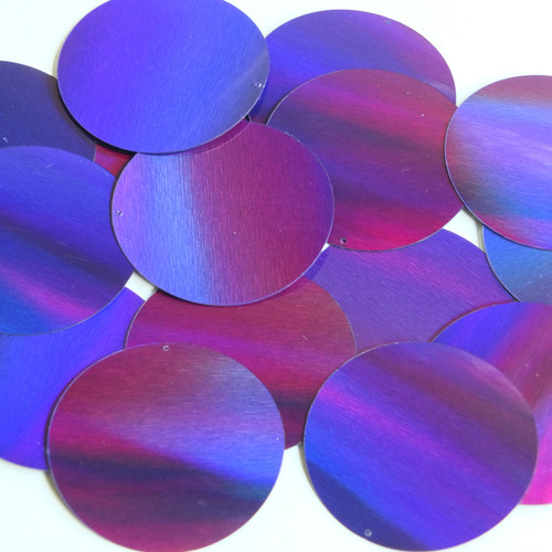 Round Sequin 50mm Deep Purple Lazersheen Reflective Metallic