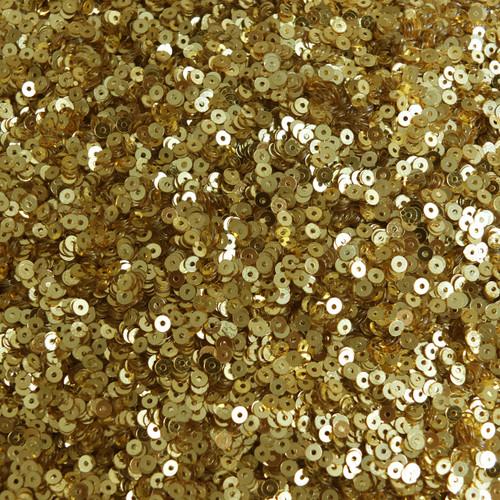 Gold Colored Metal 3mm RARE Vintage Sequins