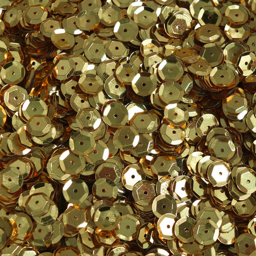 8mm Cup Sequins Rich Egyptian Gold Shiny Metallic