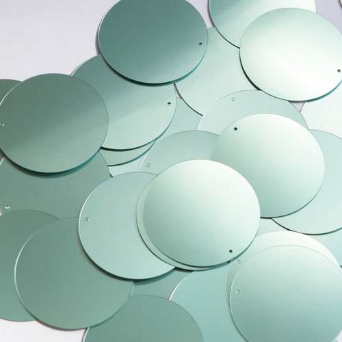 49a75a9c0d9cd9 40mm Sequins Top Hole Seafoam Blue Green Opaque Glossy High Shine ...