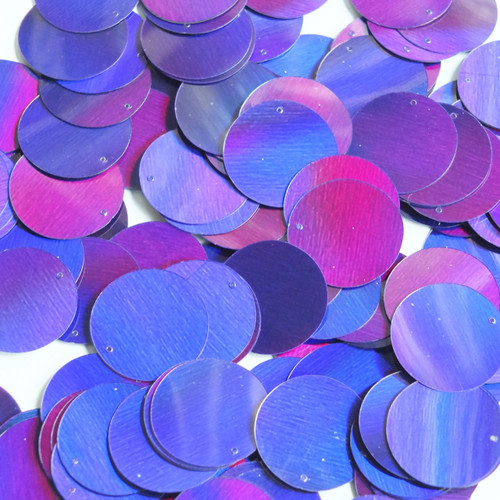 Round Sequin 20mm Deep Purple Lazersheen Reflective Metallic
