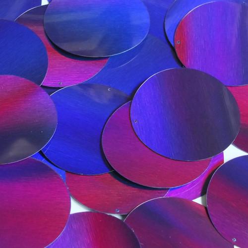 Round Sequin 70mm Deep Purple Lazersheen Reflective Metallic