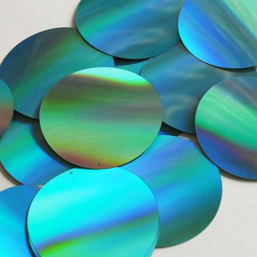Round Sequin 60mm Aqua Blue Lazersheen Reflective Metallic