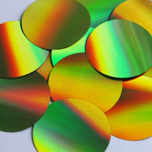 Round Sequin 60mm Lime Green Lazersheen Reflective Metallic