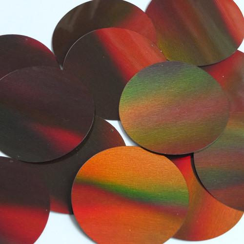 Round Sequin 60mm Bronze Brown Lazersheen Reflective Metallic