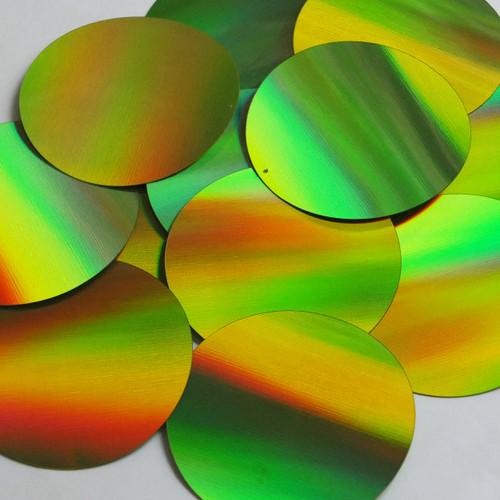 Round Sequin 70mm Lime Green Lazersheen Reflective Metallic