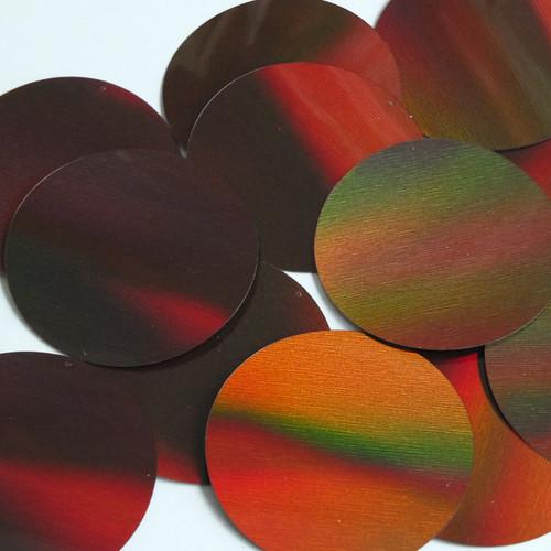 Round Sequin 70mm Bronze Brown Lazersheen Reflective Metallic