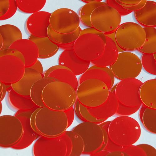 Round  Flat Sequin 12mm Top Hole Red Rainbow Iris Super Mirror Shiny Reflective