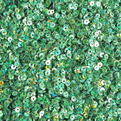 3mm Flat Sequins Grass Green Hologram Glitter Sparkle Metallic
