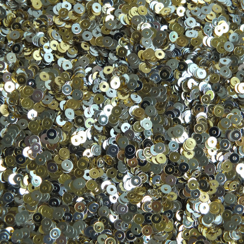 3mm Flat Sequins Gold Silver Metallic Two Sided Reversible