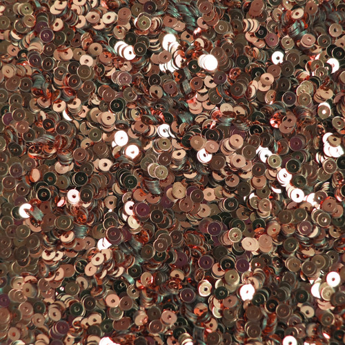 3mm Flat Sequins Rich Copper Metallic
