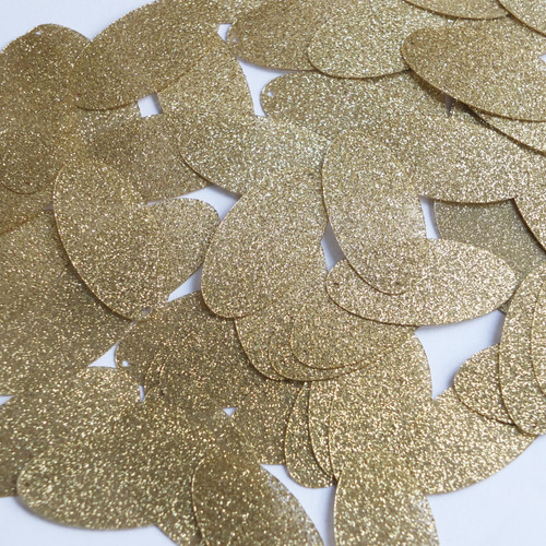 "Oval Sequin 1.5"" Gold Metallic Sparkle Glitter Texture"