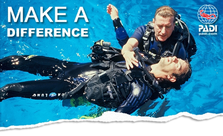 PADI Rescue Diver Class w/ Emergency First Response and O2 Provider