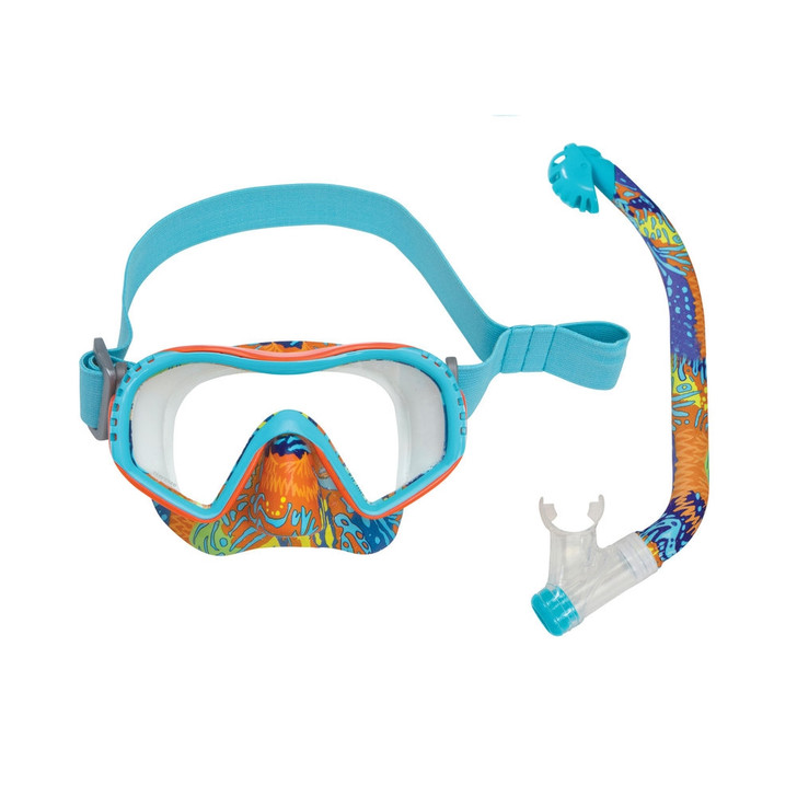 Oceanways Kids Youth Sealife Mask and Snorkel Combo