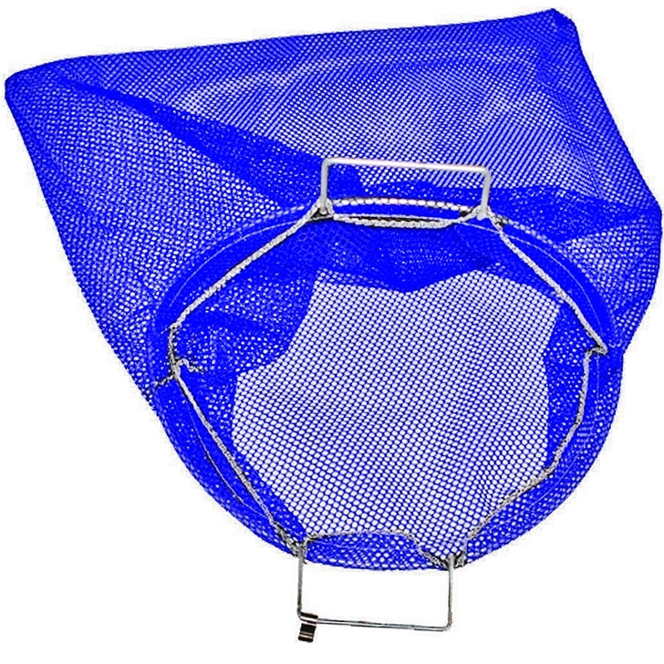 Large Blue Mesh Wire Handle Lobster Bag 24 x 28