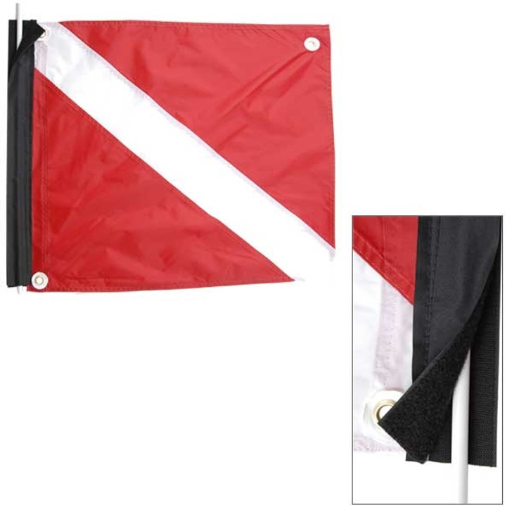 Velcro Antenna Mount Legal Size Dive Flag