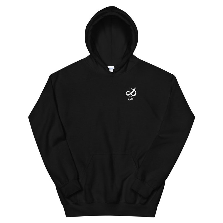 SKULLY CLASSIC, black hoodie, front | Skully & friends