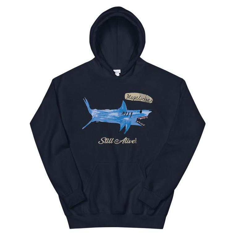 MEGALODON, blue hoodie | Skully & friends