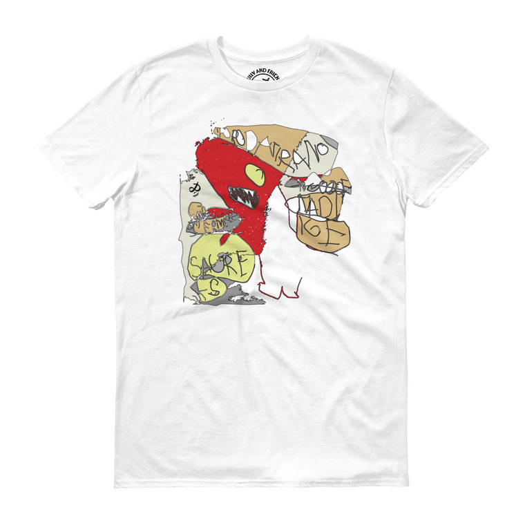 DISORGANIZED FRIEND, white T-shirt | Skully & friends