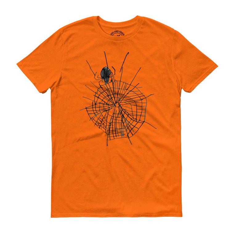 SPIDER, orange T-shirt | Skully & friends