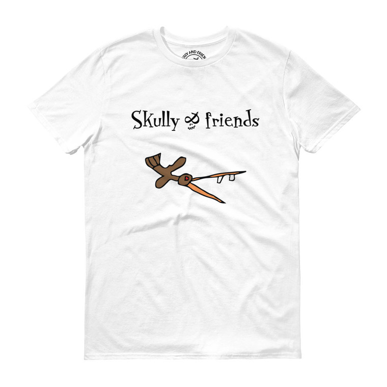 CRAZY BIRD, White T-shirt | Skully & friends
