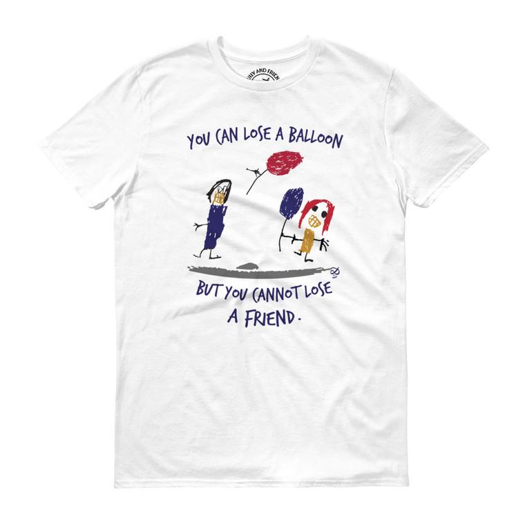 LOSING BALLOON, White T-shirt | Skully & friends