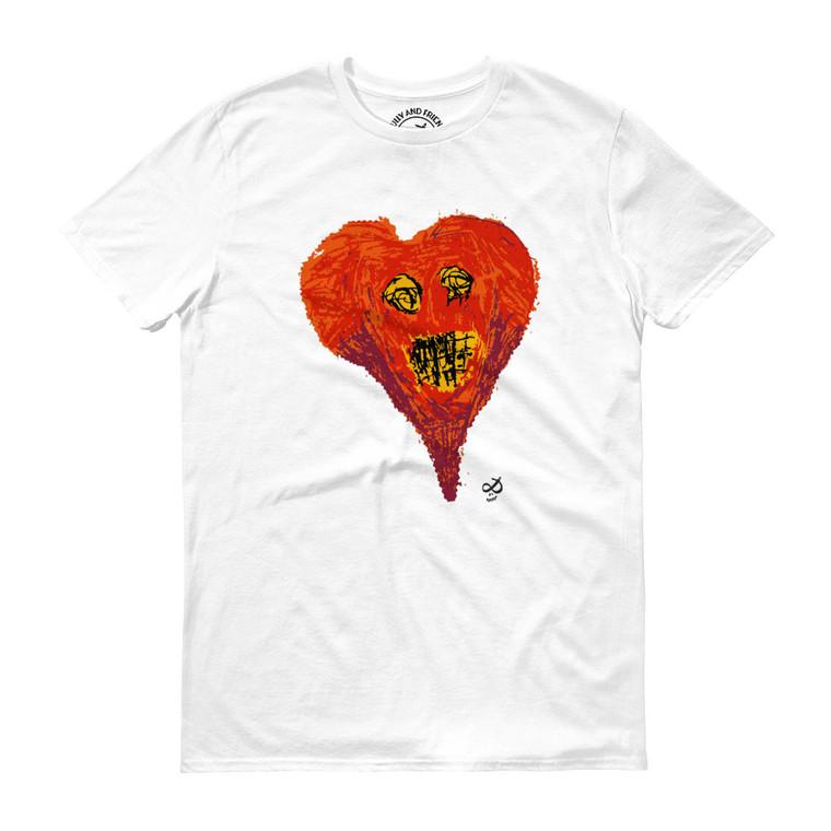 SUPER HEART, White T-shirt | Skully & friends