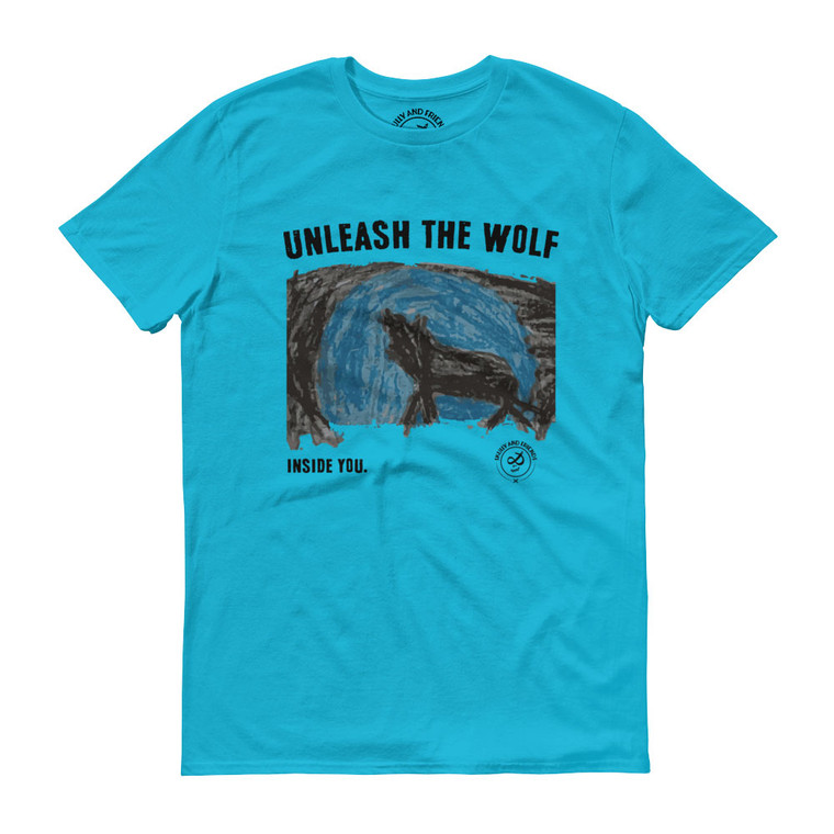 WOLF SPIRIT, Blue T-shirt | Skully & friends