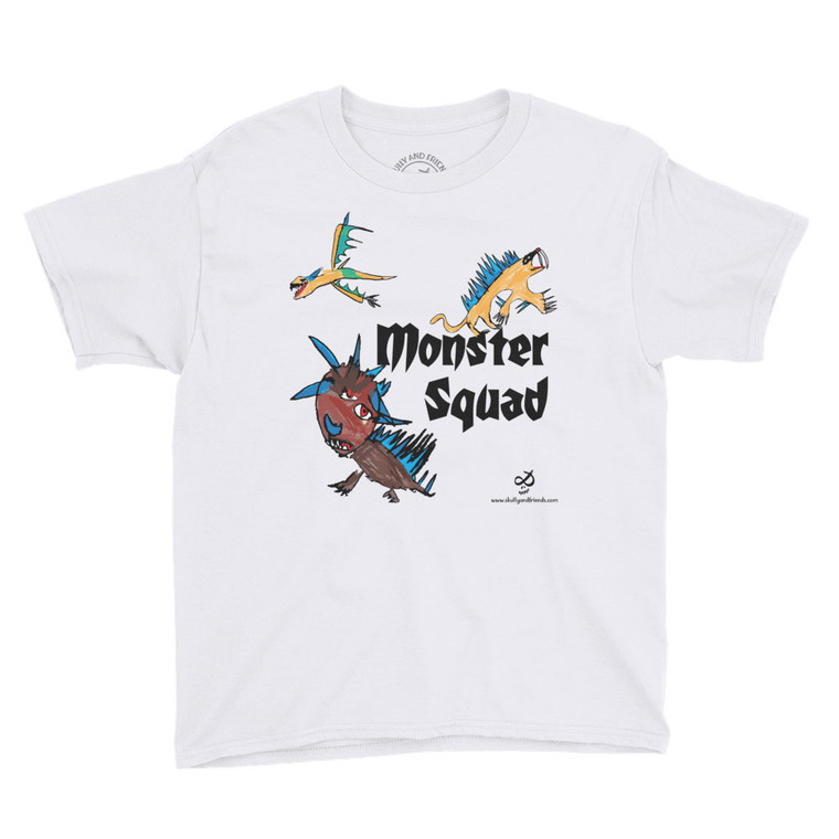 MONSTER SQUAD, White T-shirt | Skully & friends