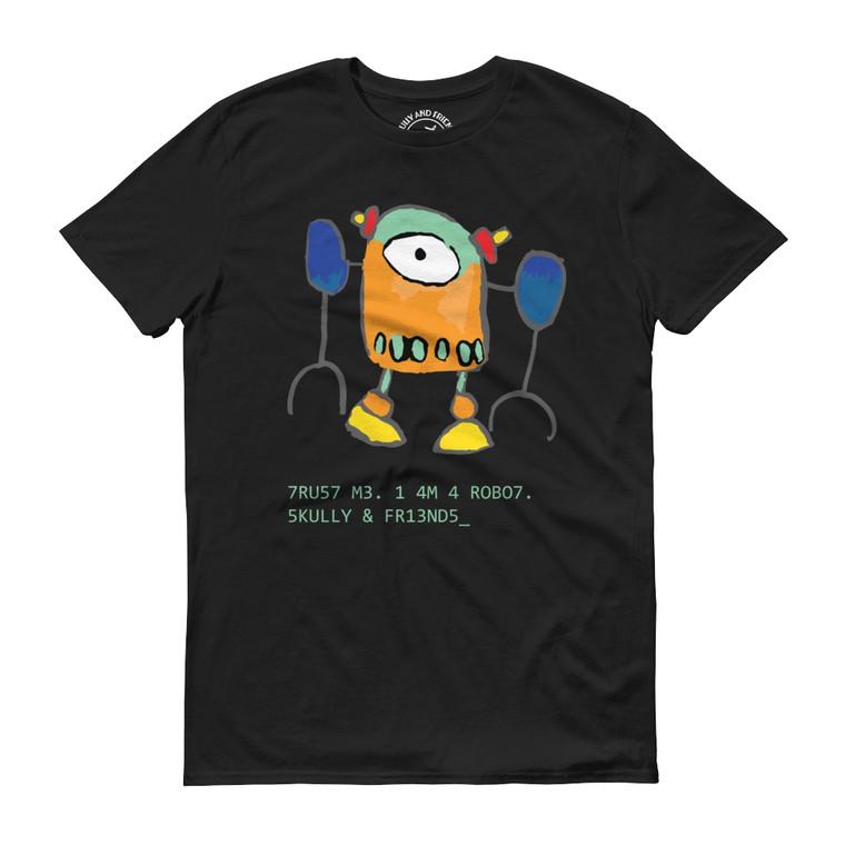 ROBO7, Black T-shirt | Skully & friends