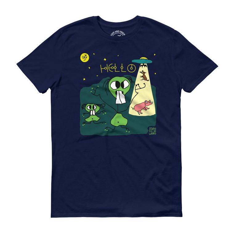 SPACE FRIENDS, Dark Blue T-shirt   Skully & friends
