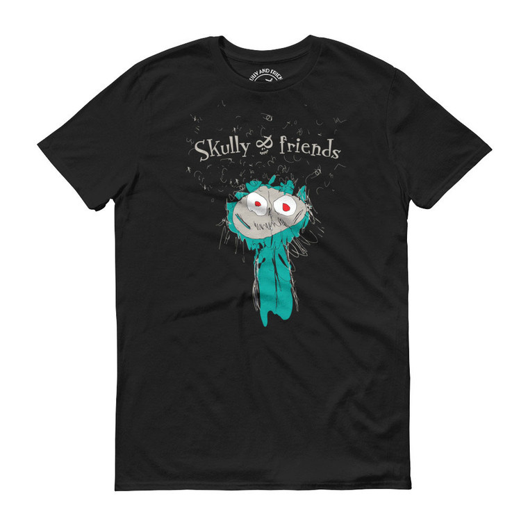 CAVE MONSTER, Black T-shirt | Skully & friends