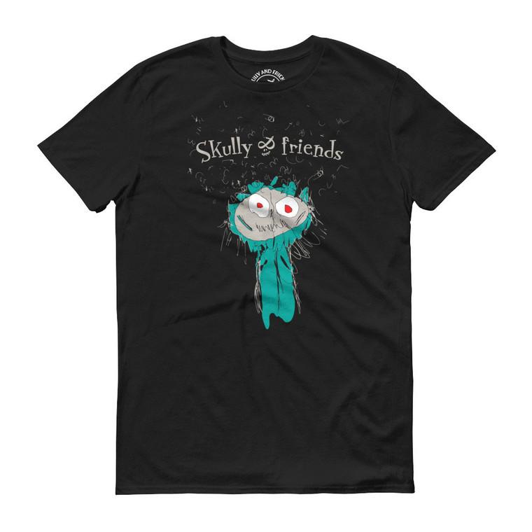 CAVE MONSTER, Black T-shirt   Skully & friends