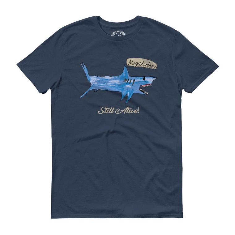 MEGALODON, Blue T-shirt   Skully & friends