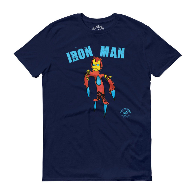 IRON MAN, Blue T-shirt | Skully & friends