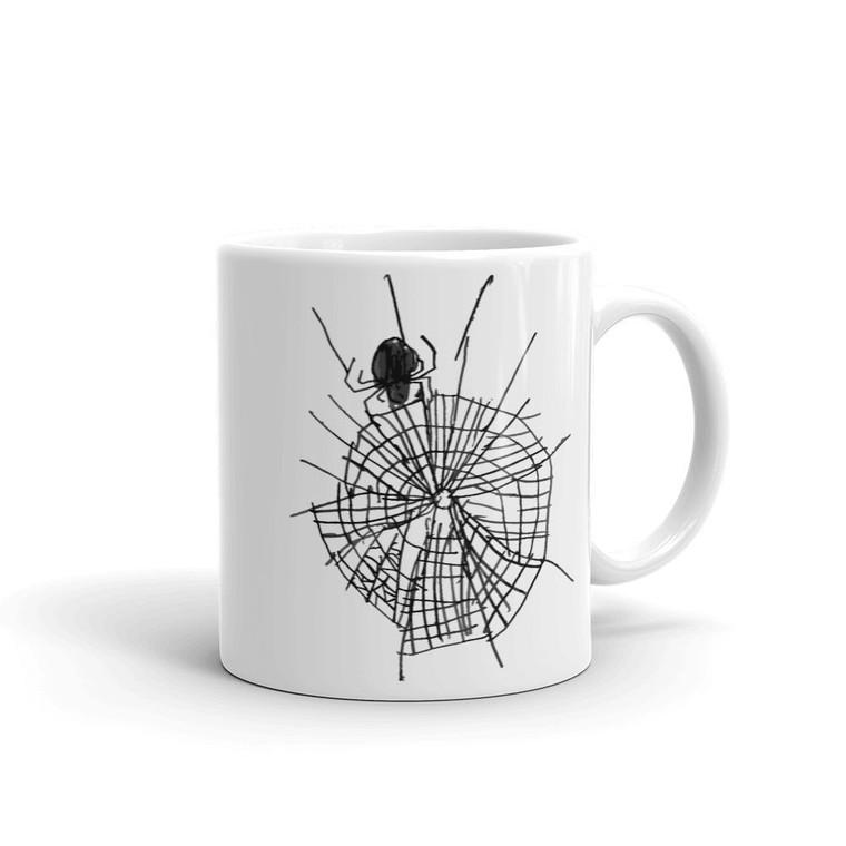 SPIDER, White Mug Right | Skully & friends