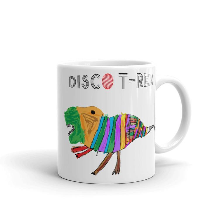 DISCO T-REX, White Mug Right   Skully & friends