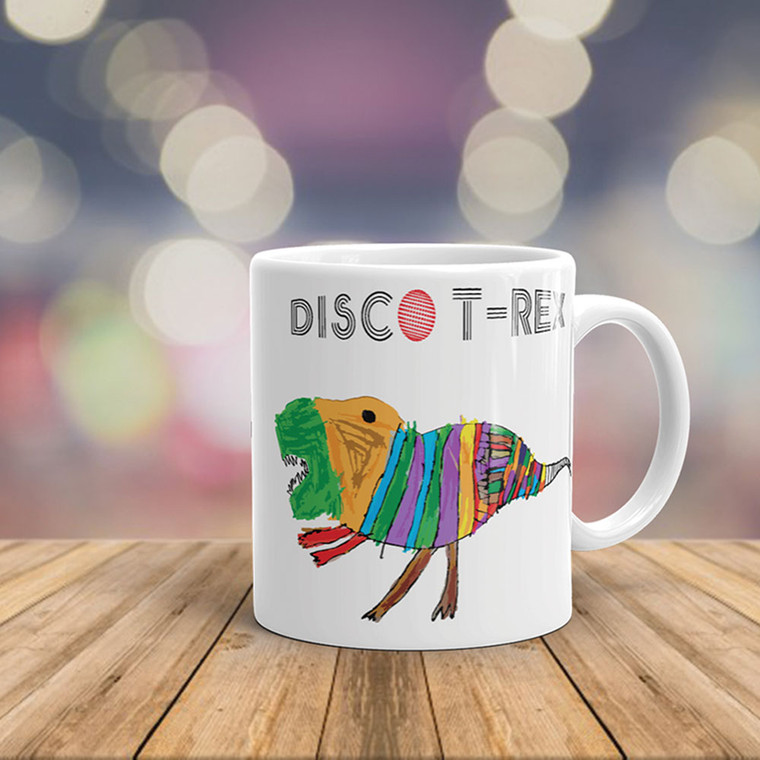 DISCO T-REX, White Cheramic Mug Real Life | Skully & friends